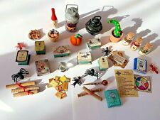 MIXED LOT OF WITCH OR WIZARD ACCESSORIES FOR A 1/12 SCALE DOLLS HOUSE