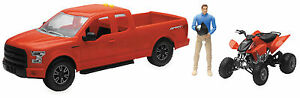 HONDA TRX450 TOY REPLICA SIDE BY SIDE WITH F150 TRUCK TRAILER TOYS LIGHTS SOUNDS