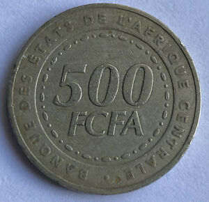 Central African States 500 Francs CFA 2006 (KM#22)