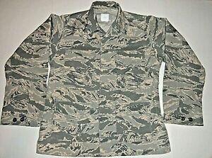 USAF Air Force ABU Digital Tiger Stripe Camo Utility Uniform Field Shirt 40R