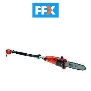 Black and Decker PS7525 Corded Pole Chain Saw 2.7m Height 25cm Bar 800w Garden