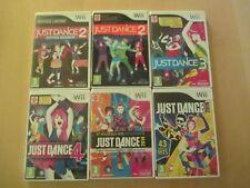 Lot 6 Jeu Just Dance  2 3 4 /2014 /2016 / Jeux Sur Console Nintendo Wii et Wii U