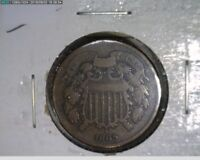 1865 2C Two Cent Civil War Coin  ( 18s182 )