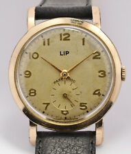 MONTRE ANCIENNE LIP R25 PL/OR 40 MICRONS 1952 VINTAGE FRENCH WATCH