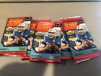 (5) 2019 Score Football Card Pack NFL 12 Card Pack Trading Cards 5 Pack Lot