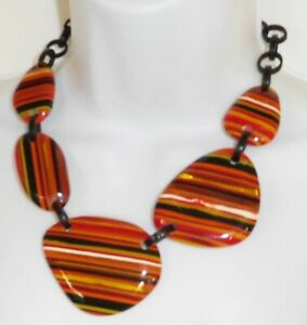Sobral Atelie Rolling Stone Red Pop Art Bead Artist Made Statement Necklace