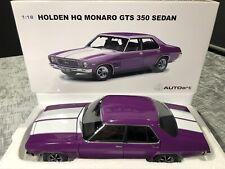1:18 Holden HQ Monaro GTS 350 Sedan 1974 (Purr Pull White Strp) AUTOart BNIB COA
