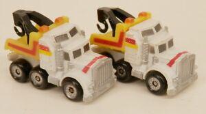 Micro Machines Pair of White/Yellow Tow Trucks