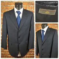 Luciano Barbera Men's 42R 3/2 Roll Suit Jacket Blazer Window Pane Plaid Wool