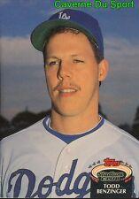 764  TODD BENZINGER  LOS ANGELES DODGERS TOPPS BASEBALL CARD STADIUM CLUB 1992