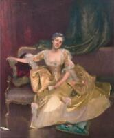 """high quality oil painting handpainted on canvas """"a  young lady"""""""