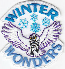 """WINTER WONDERS"" - IRON ON EMBROIDERED PATCH - SNOW FLAKES, SNOW, WINTER"
