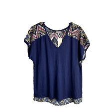 Stitch Fix Small Top Pixley Women Boho Indianan Mixed Print NEW