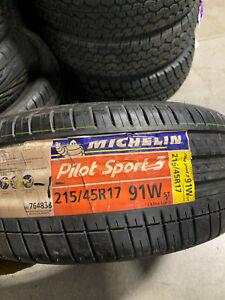 1 New 215 45 17 Michelin Pilot Sport-3 Tire