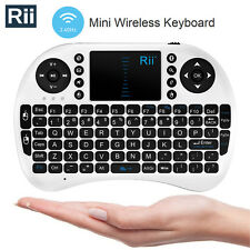 Rii Wireless Mini Keyboard i8 Mouse Touchpad for PC Smart TV Player, WHITE 039