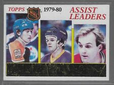 3 Gretzky/Dionne/Lafleur HOF 1980-81 Topps 1979-89 Assist Lead #162 NM or better
