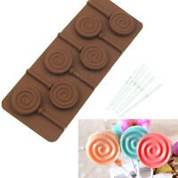 Silicone Cake Pop Mould Maker Baking Set 6 Lollipop Sticks Candy Mold Cooking