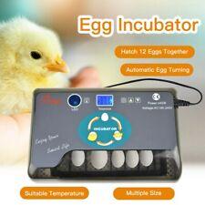 Fully Automatic 12 Eggs Incubator Led Turning Muiltiple size Duck Quail Hatcher