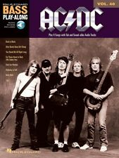 AC DC Sheet Music Bass Play-Along Book and Audio NEW 014041594