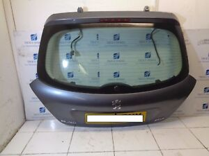06-11 PEUGEOT 207 3DR REAR BOOT LID TAILGATE BARE IN GREY EZW