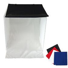 Cube Boite de Lumière Softbox Diffuseur Tente 60x60x60cm + 4x Fond