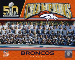 Denver Broncos Super Bowl 50 Champions Team 8x10 Photo Peyton Manning