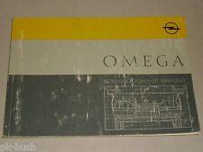 Betriebsanleitung Handbuch Opel Omega A, Stand Mai 1988