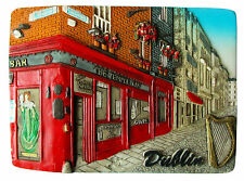 Magnete da frigo DUBLINO IRLANDA 3D Dipinto a mano