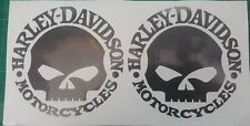 2 Stück Harley Davidson Logo Aufkleber in Granite Met. 10 ×10 cm.Top
