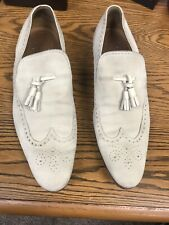 Gucci Beige Suede Tassel Loafers Size 10 1/2