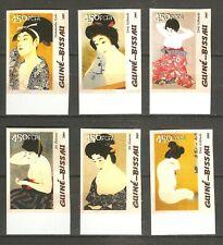 Kunst Akt Gemälde Frauen aus Japan Guinea Bissau 3100/05 ungezähnt postfrisch