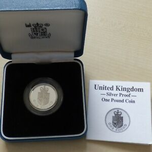 1988 £1 Silver Proof One Pound Coin Boxed With COA.,