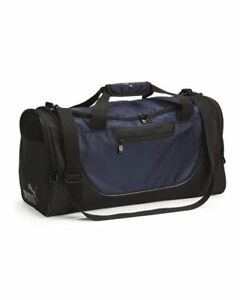 "Puma 34L Navy/ Black 21"" Duffel Bag for Gym / Travel - New"