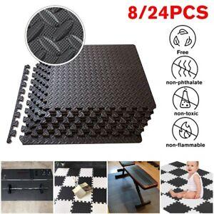 30x30CM Sq Ft Interlocking EVA Foam Exercise Floor Mat Flooring Gym Playground