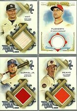 2020 Allen & Ginter 4 Card Lot of Full Size Relics and Memorabilia