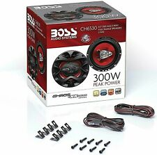 Car Speakers 3 Way Pair Audio Stereo Coaxial 6.5 Boss 300 Watt Ch6530 CHAOS EXXT