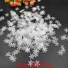 10pcs Crystal Christmas Snowflakes Ornaments Party Tree Hanging Decoration Xmas