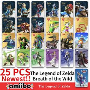 Newest 25 PCS Zelda Breath of the Wild Amiibo NFC Cards Tag BOTW For Switch WiiU