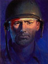 Art Imprimé Poster Peinture Portrait 1944 soldat blessé nofl0945