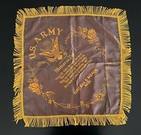 Vintage U.S. Army Fort Meade Sweet-Heart Mother / Father Pillow Case
