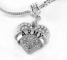 Army charm  soldier best charm gift Infantry  Military Silver