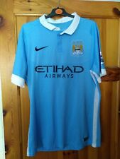 Manchester city football shirt large signed