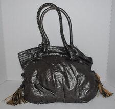 Red by Marc Ecko Hobo Shoulder Bag Purse Metallic Faux Reptile Tassels Handbag
