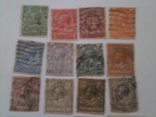 Timbres Grande Bretagne 1912-22 Y&T n° 139 à n° 154 Oblitéré X