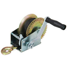 Hand Winch With Strap 1200/3000 Lbs Capacity For Boat Trailer Pulling