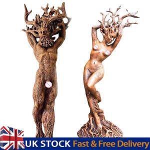 Forest Goddess Statue Resin Ornaments Garden Handicraft Tree God Ornament UK