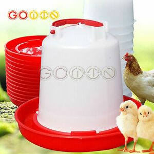 Plastic Chicken Quail Poultry Chick Hen Drinker Food Feeder Waterer Bucket Cool
