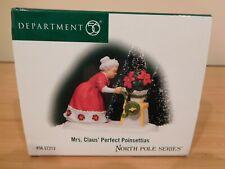 Dept 56 North Pole Accessory - Mrs. Claus' Perfect Poinsettias