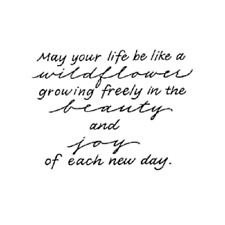 PENNY BLACK RUBBER STAMP GROWING FREE NEW DAY SAYING STAMP