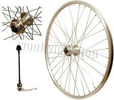 """26 """"MTB Vélo Quando Disque Moyeu qr surface de freinage cnc argent jante roue disque avant"""